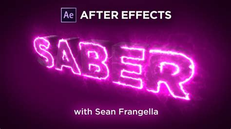 cool logo animation after effects after effects creating a 3d write on text animation with glowing saber effects tutorial