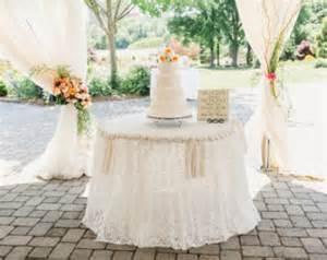 Wedding table cloth burlap and lace custom order wedding cake table