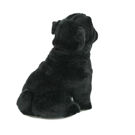 black pug soft black pug soft plush stuffed animal by bocchetta oreo 11 quot 28cm new ebay