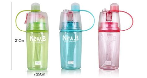 New B Sports Spray Water Bottle most popular 400ml water bottles new b transparent cycling