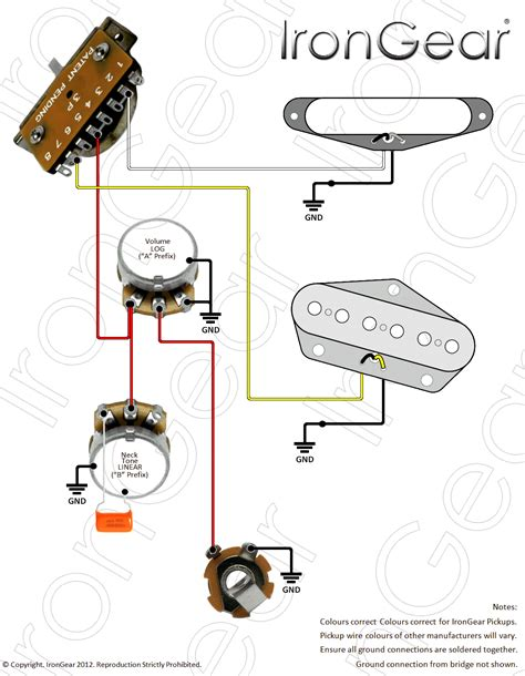 fender noiseless tele wiring diagram 44 wiring