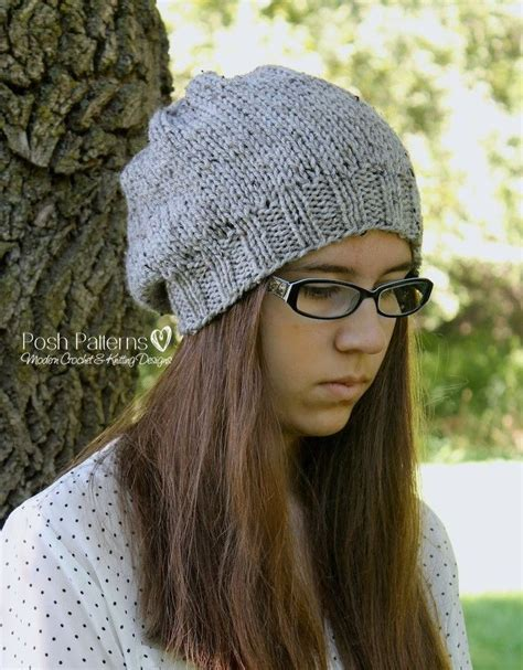 slouchy hat knitting pattern for beginners 1000 images about hats on hat patterns