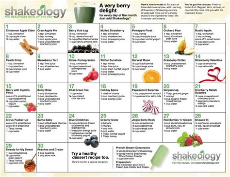 printable shakeology recipes 17 best images about shakes shakes shakes on pinterest