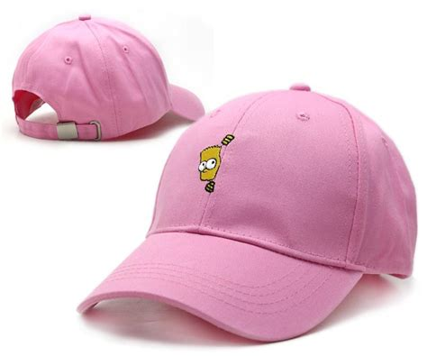 Simpsons Newest Must Accessory Baseball Caps by Pink Bart Caps Snapbacks Fashion