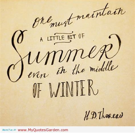 Quotes About Winter And Summer
