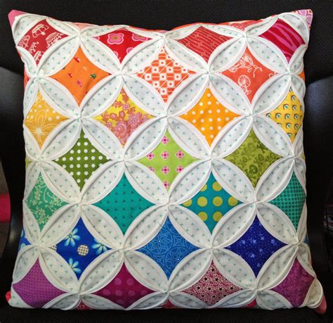Cathedral Window Patchwork Pincushion - diary of a quilt maven faux cathedral windows pincushion