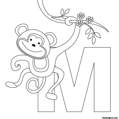 printable animal alphabet printable animal alphabet worksheets letter m for monkey