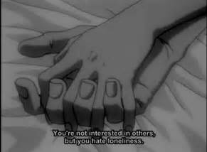 anime quotes on loneliness