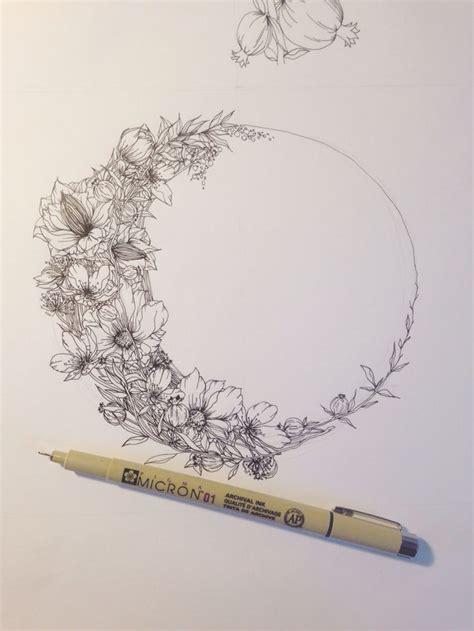 moon flower tattoo best 25 shoulder flowers ideas on
