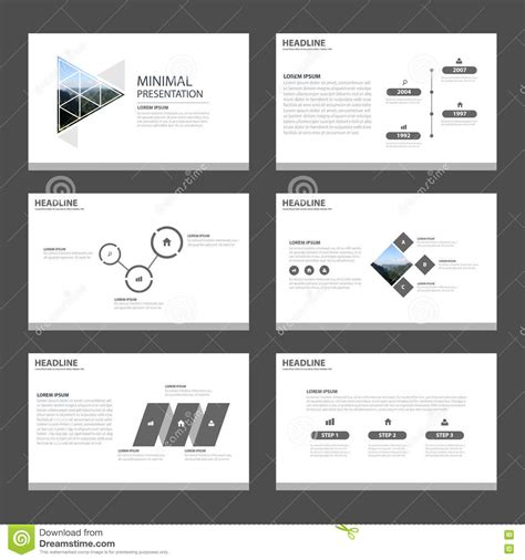 minimal selves minimal and clean presentation templates infographic stock