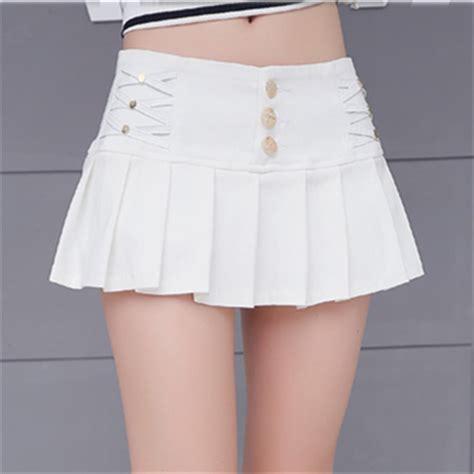 Mini Skirt Black White Jfashion white pleated mini skirt fashion skirts
