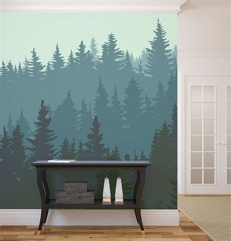 living room murals wall murals ideas with several revealed themes for winter
