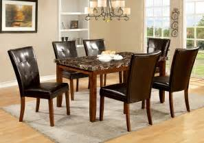 Faux Marble Dining Table Set Furniture Of America Mawson Faux Marble 7 Dining Table Set Home Furniture Dining