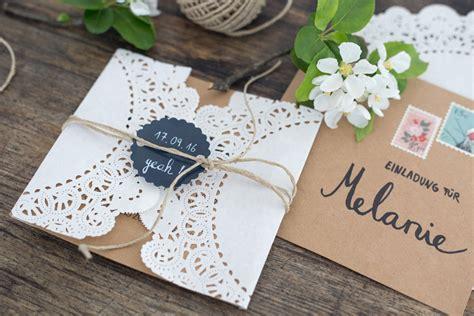 Hochzeitseinladung Diy by Diy Hochzeitseinladungen Selbstgestalten Kreativfieber