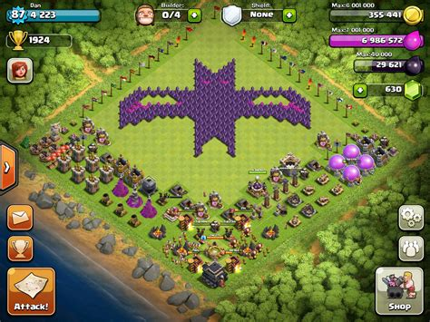 download game coc mod flame wall clash of clans www mobilga com clash of clans layout