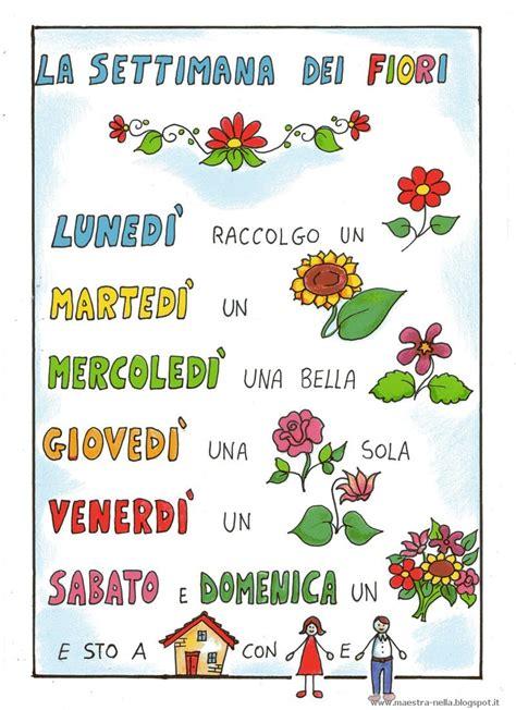 filastrocche sui fiori filastrocca giorni della settimana eg08 pineglen