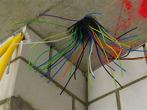 farbige elektrokabel elektro installationen hausbau