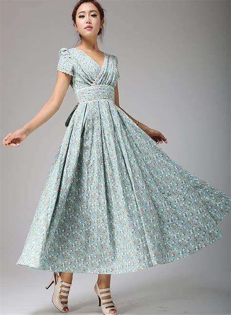floral maxi linen dress floral prom dress linen dress