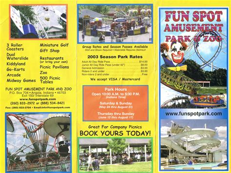 theme park brochures fun spot theme park brochures