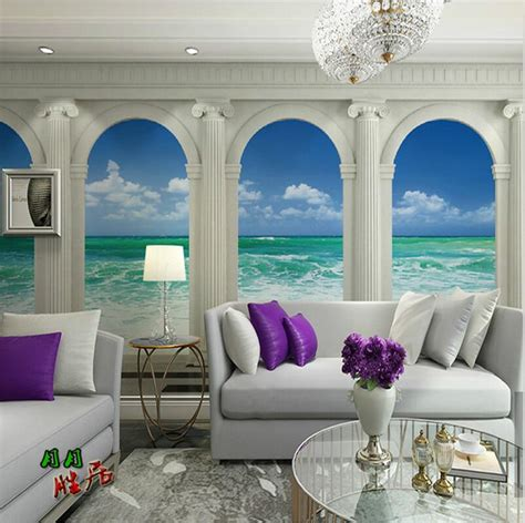 living room wall decor 2017 grasscloth wallpaper aliexpress com buy 2017 new photo wallpaper roman column