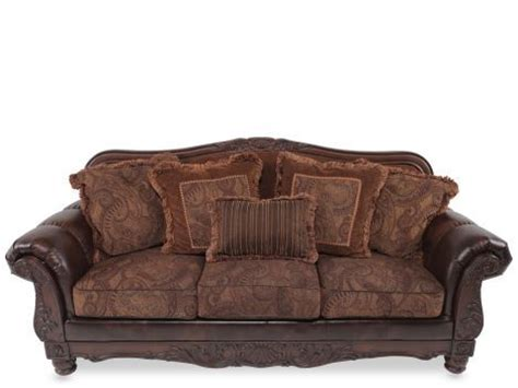 ashley durablend antique sofa ash 6310038 ashley durablend fresco antique sofa