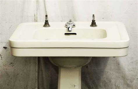 yellow bathroom sinks pale yellow pedestal sink olde good things