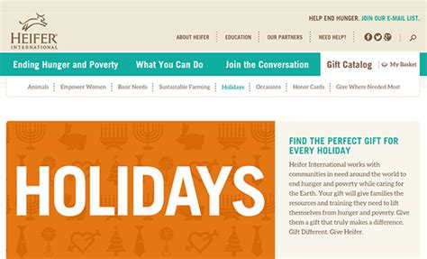 20 holiday gift programs that benefit nonprofits - Www Heifer Org Catalog Gift Cards