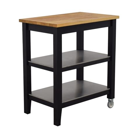 black kitchen island cart 57 ikea ikea stenstorp wood and black kitchen
