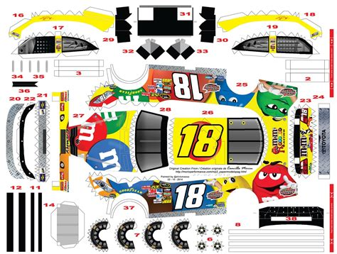 Nascar Papercraft - nascar truck paper model template pictures inspirational