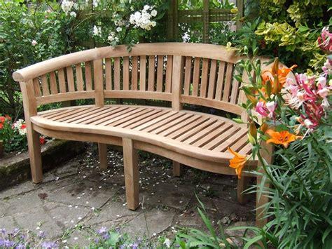 bench in garden curved teak garden bench bali