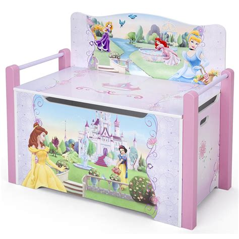 princess toy chest bench disney princess deluxe toy box bench the toy book