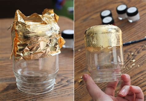 candle craft projects gold leaf candle jars the crafted