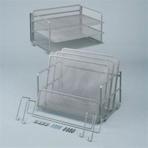 Seville Desk Organizer Seville Classics Office Desk Organizer Platinum Mesh 6 Trays Home Kitchen
