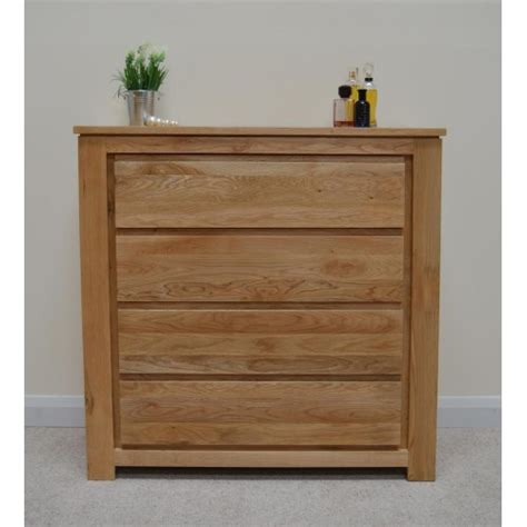 Chest Of Drawers With Shelves by Stratton Solid Oak 4 Drawer Wide Chest Of Drawers