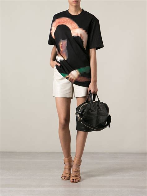 New Of Givenchy Nightangle Smalll lyst givenchy small nightingale tote in black