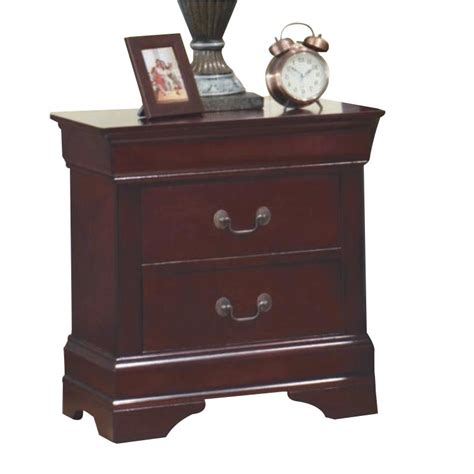 coaster lancashire two drawer nightstand with built in coaster louis philippe two drawer nightstand in rich