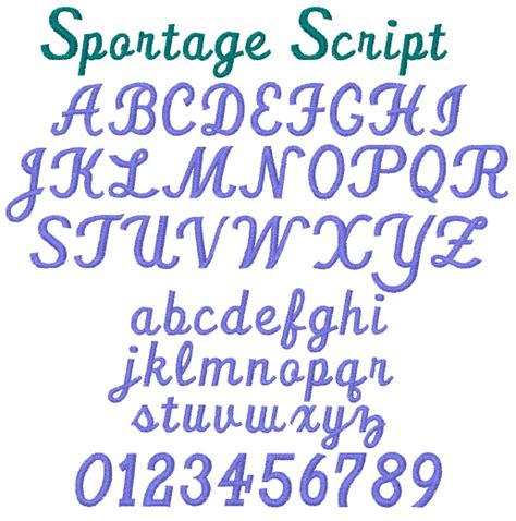 typography embroidery sportage script by stitch home format fonts on