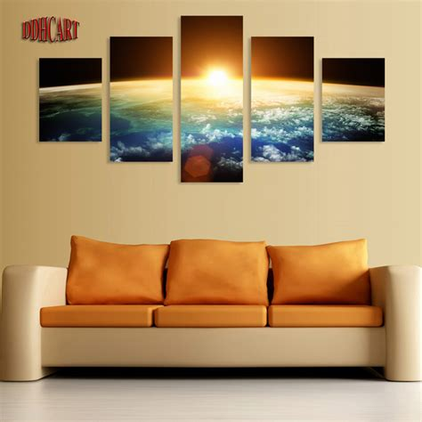 5 canvas wall prints painting space picture