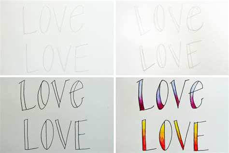 hand lettering tutorial love 3 easy hand lettering fonts plus a printable scratchmade
