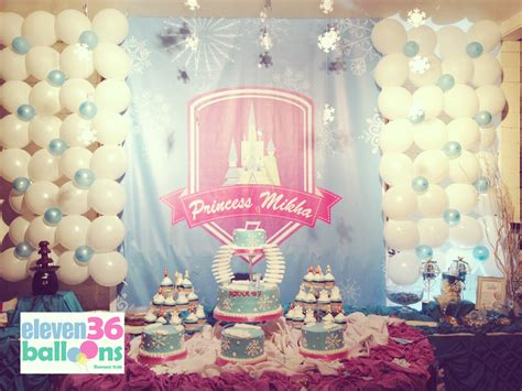 frozen themed party venue mikha s 7th birthday frozen theme eleven36 party