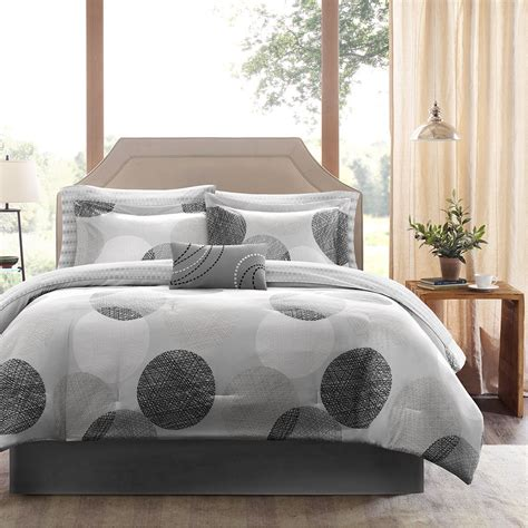 modern grey comforter modern contemporary elegant chic black grey white stripe
