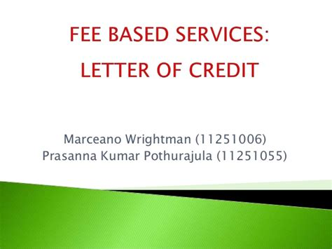Letter Of Credit Course Letter Of Credit