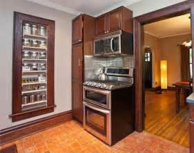 recessed kitchen cabinets kitchen storage between the studs 5 exles of smart