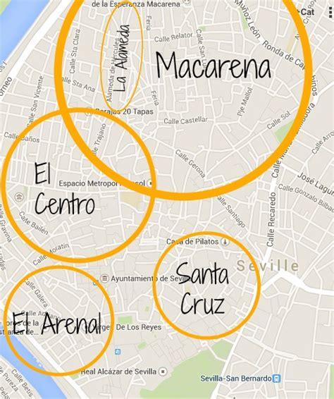map of central neighborhoods seville s best neighborhoods for living and