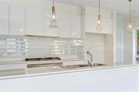 kitchen tiled splashback ideas kitchen pendant lights and mirrored tile splashback home