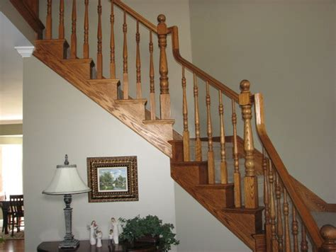Wrought Iron Banister Spindles Wrought Iron Or White Wood For Stair Remodel