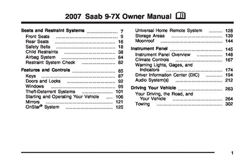 old car owners manuals 2007 saab 9 7x parental controls service manual free repair manual 2007 saab 9 7x service manual 2006 saab 9 7x door window