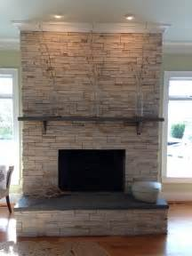 Stone Fireplace Hearths - stone fireplace ledgestone w stone slab mantle and