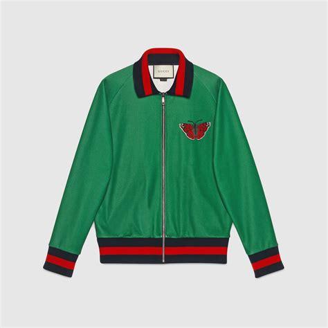 Jaket Fashion Gucci 5 web and snake jersey jacket gucci s bombers leather jackets 431941x5c103118