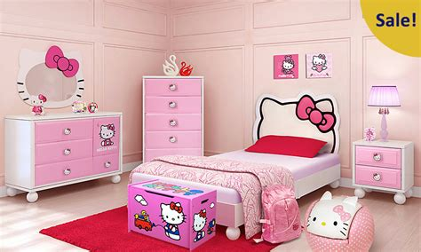hello bedroom sets dealmoon 575 hello kitty twin bedroom set rooms to go